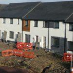 White terraced houses brand new